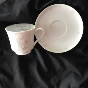 Precious Moments Saucer and Teacup #96